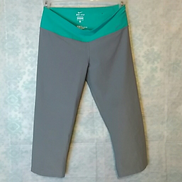 df6109dafc3b4b Nike Pants | Dri Fit Capri Ten Less Plastic Bottles One | Poshmark